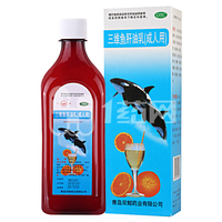 双鲸 三维鱼肝油乳(成人)380ml*1瓶