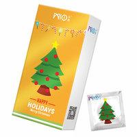 米奥圣诞节定制款圣诞树情趣型避孕套安全套男用颗粒G点中号保险套MIO