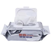 沐舒厨房湿巾纸清洁去油污抽取式湿纸巾家庭装擦油烟机专用4包